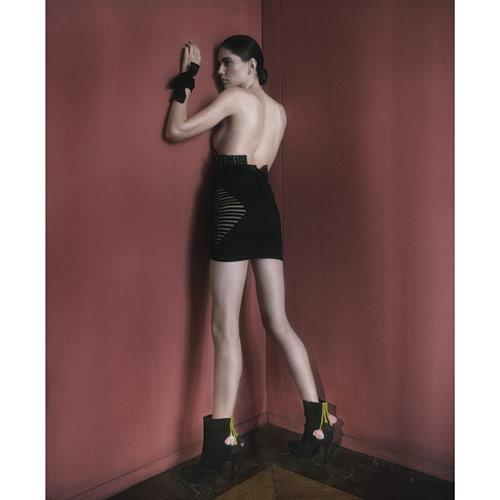 Elisa Palomino booties with suede flower details
