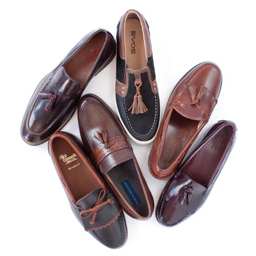 Kilties and tassels add a gentlemanly flair to loafers.