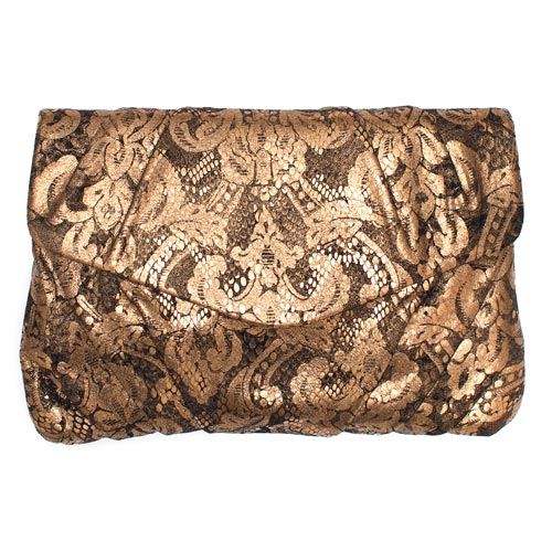 Richly embellished evening bags are pure gold for fall.