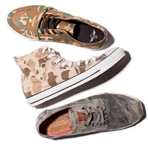 Sneakers can't hide from the legion of camouflage prints for Spring '14.