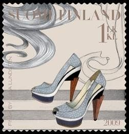stamp 2009 finland shoes
