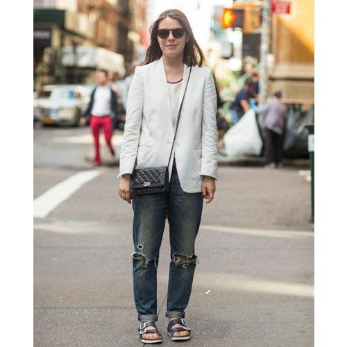 New Yorkers have been bullish about sporting the Birkenstock look this spring.